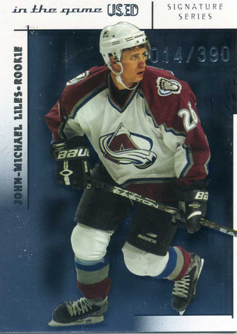 2003-04 In The Game Used # 158 John Michael Liles #/390