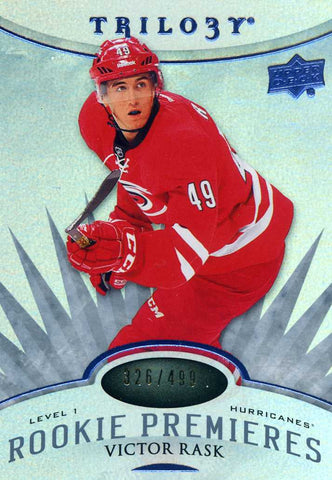 2014-15 Upper Deck Trilogy - Level 1 Radiant Blue # 114 Victor Rask #/499