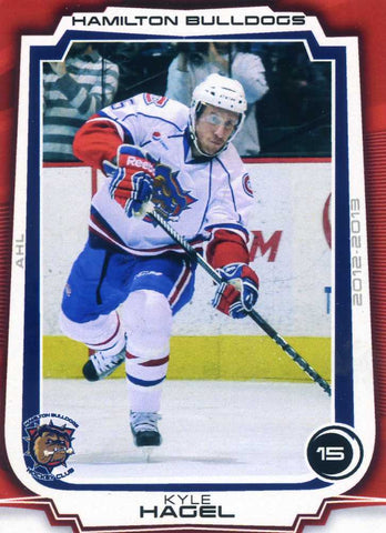 2012-13 Hamilton Bulldogs - Extreme Sports Cards [AHL # 17 Kyle Hagel