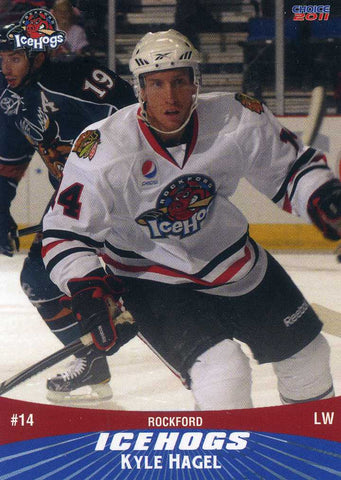 2010-11 Rockford IceHogs - Choice Marketing [AHL] # 8 Kyle Hagel