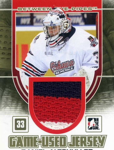 2013-14 In The Game – Between the Pipes – GOLD Game Used Jersey Daniel Altshuller