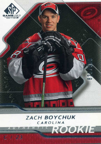 2008-09 SP Game Used – Rookies - # 181 Zach Boychuk #/999