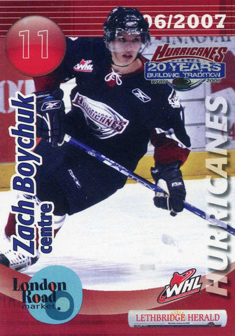2006-07 Lethbridge Hurricanes - Lethbridge Herald [WHL] # 4 Zach Boychuk