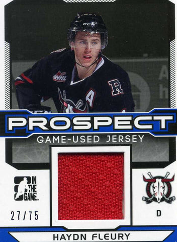 2014-15 In The Game – Draft Prospects – Jersey -# PGU-11 Haydn Fleury  #/75