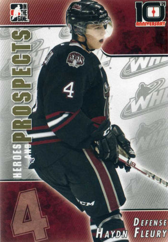2013-14 In The Game – Heroes and Prospects - 10th Anniversary - # T-35 Haydn Fleury