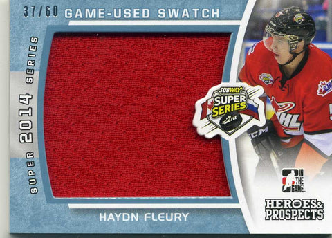 2014-15 In The Game – Heroes & Prospects – Jersey -# SSJ-11 Haydn Fleury  #/60