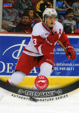 2013-14 Sault Ste-Marie Greyhounds - Choice Marketing [OHL] # 1 Tyler Ganly