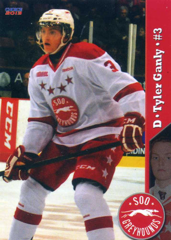 2012-13 Sault Ste-Marie Greyhounds - Choice Marketing [OHL] # 1 Tyler Ganly