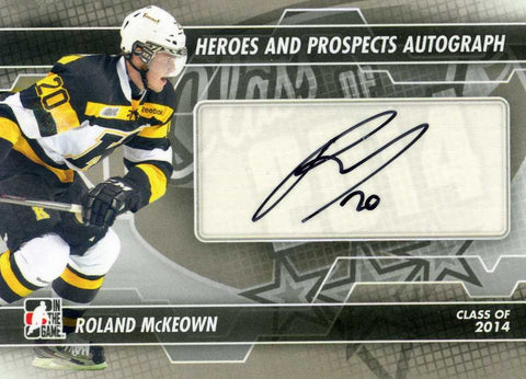 2013-14 In The Game – Heroes & Prospects – Autograph # A-RM Roland McKeown