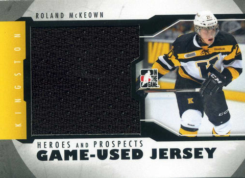 2012-13 In The Game – Heroes & Prospects – Jersey (Black) # M-21 Roland McKeown