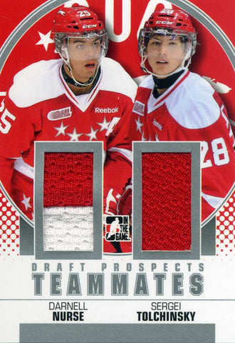 2013-14 In The Game – Draft Prospects – Teammates Jersey - Sergey Tolchinsky w/Darnell Nurrse