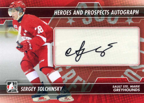 2013-14 In The Game – Heroes & Prospects – Autograph - Sergey Tolchinsky