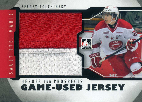 2012-13 In The Game – Heroes & Prospects – Jersey - Sergey Tolchinsky