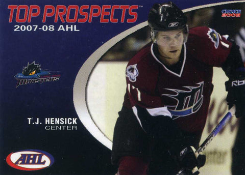 2007-08 AHL Top Prospects - Choice Marketing [AHL] - # 19 T.J. Hensick