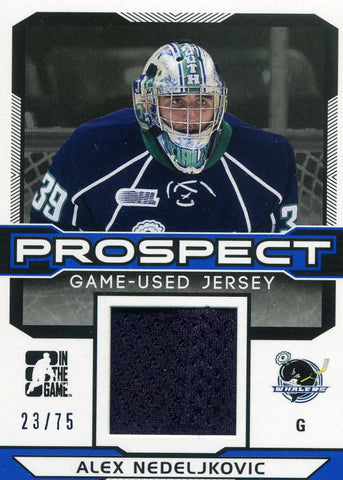 2014-15 In The Game – Draft Prospects - JERSEY - BLUE - # PGU-2 Alex Nedeljkovic #/75