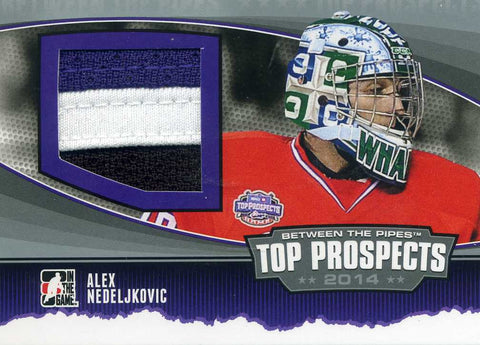 2013-14 In The Game – Between the Pipes - Top Prospects Jersey - Silver – # TP-09 Alex Nedeljkovic