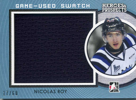 2014-15 In The Game – Heroes & Prospects - Jersey # GUJ-16 Nicolas Roy #/60