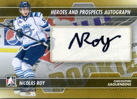 2013-14 In The Game – Heroes & Prospects - Autograph # A-NR Nicolas Roy