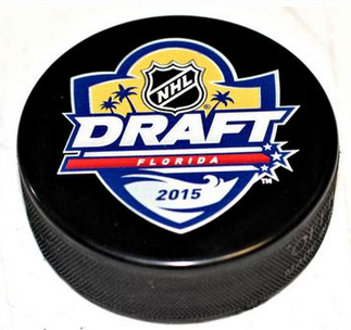 2015 NHL Draft Log Hockey Puck
