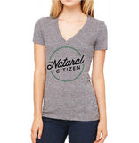 The Natural Citizen V neck logo t-shirt