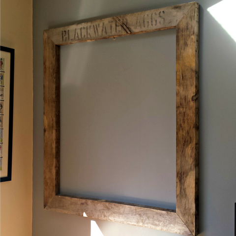 extra large rustic recycled pallet wood frame