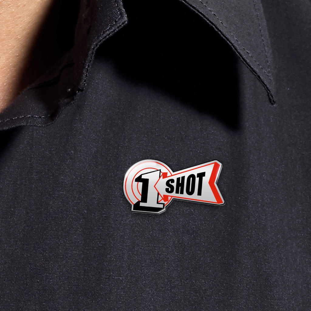 1 Shot Logo Lapel Pin