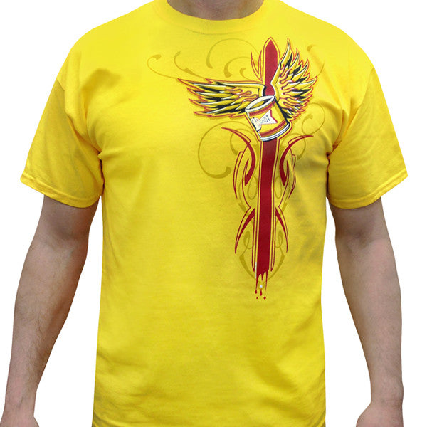 "Clearance: 1 Shot ""Slam"" Tee - Yellow"