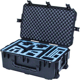 Go Professional Cases DJI Inspire 1 & accessories wheeled travel position hard case