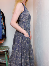 Load image into Gallery viewer, COTTON VOILE WAVE PRINT DRESS