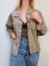 Load image into Gallery viewer, VINTAGE LINEN JACKET/BLOUSE