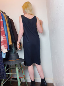 VINTAGE GOLDEN CRANE PATCH DRESS