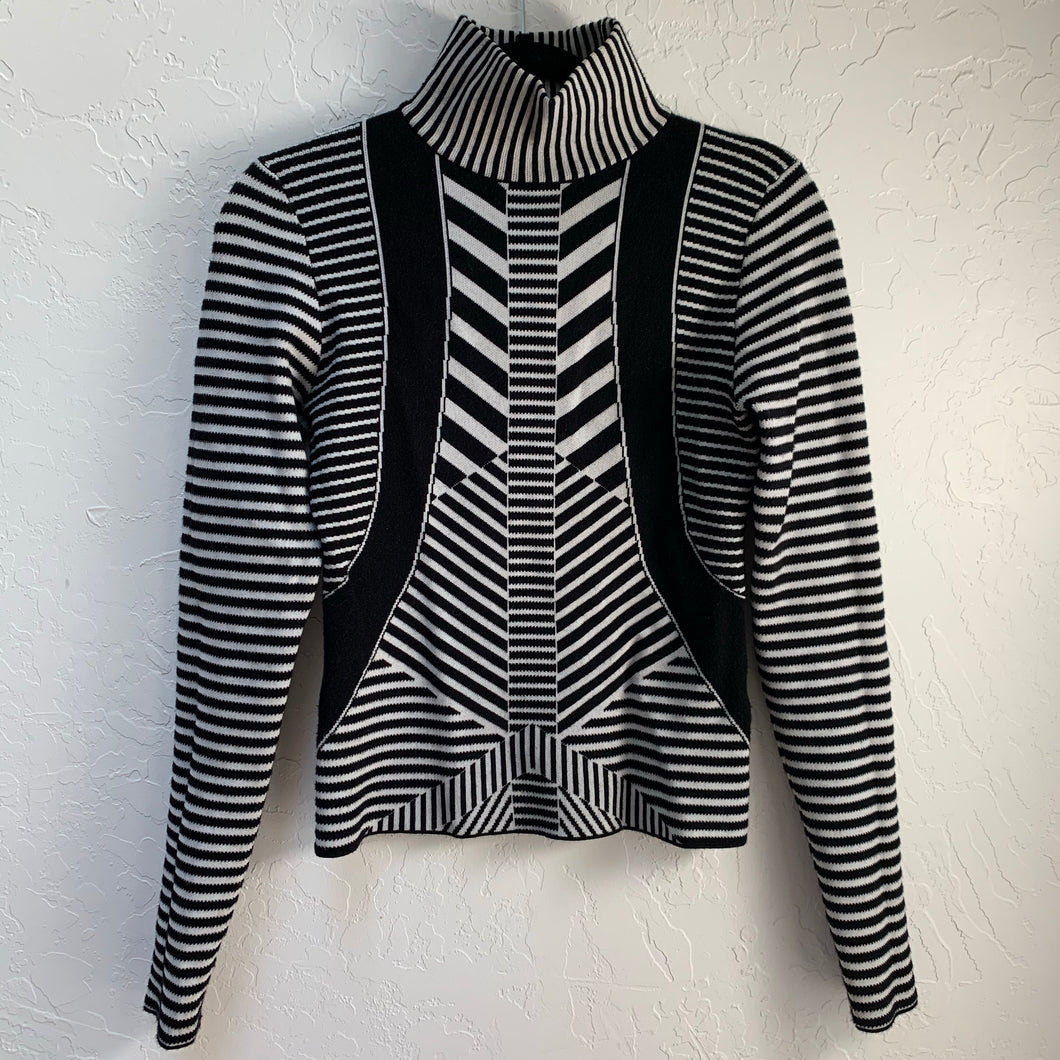 FINDERS KEEPERS GRAPHIC MOCKNECK SWEATER