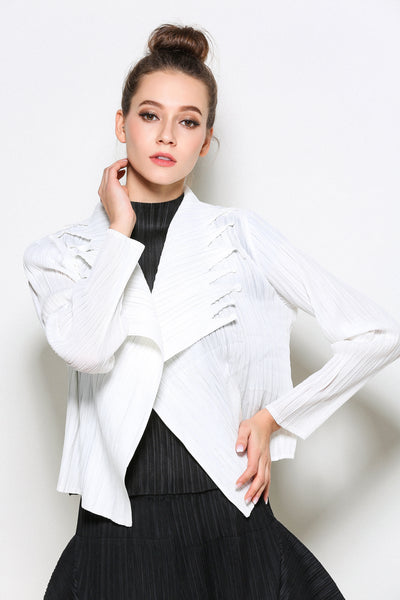 white long sleeve jacket