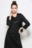 Long sleeve cut out pattern jacket