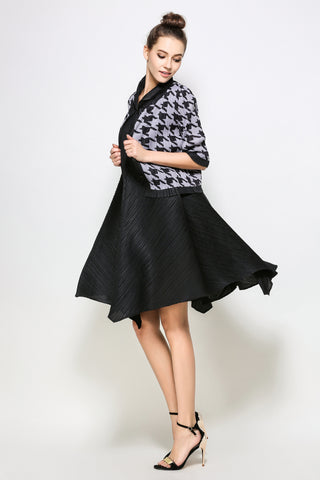 Houndstooth pattern button up Jacket