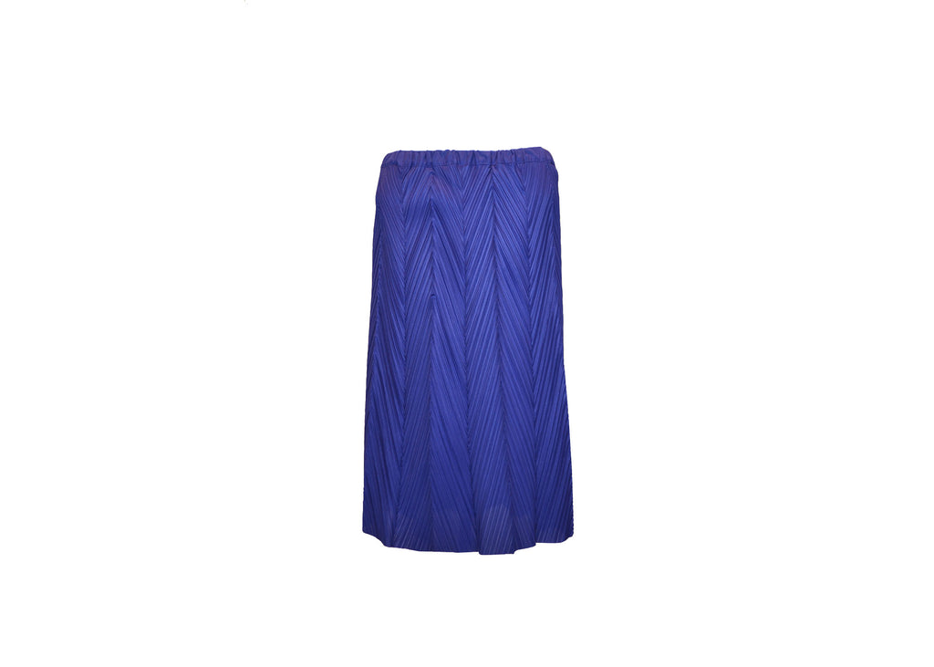 Royal Blue Asymmetrical Skirt