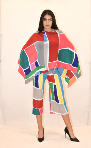 Multi Colored Poncho