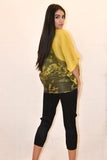 Pleated yellow blouse