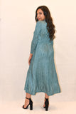 Scrunch Pleated long sleeve Dress