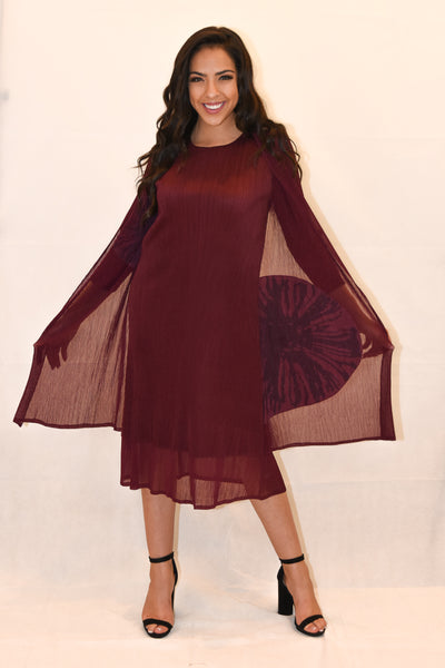 Layered Long Sleeve Evening dress