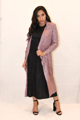 Scrunch Pleated Button up Coat