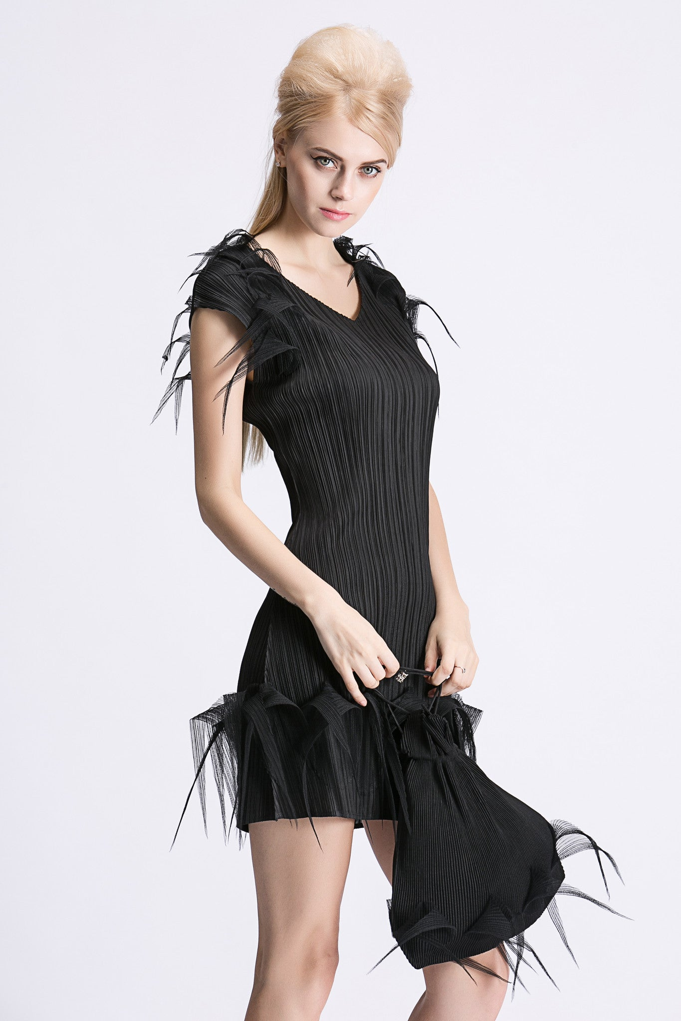 Masaki Matsuka - Feather Detail Dress - Short
