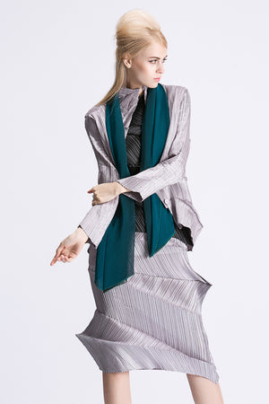 Metallic High Collar Blazer
