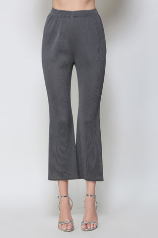 Cropped Flare Legged Trousers