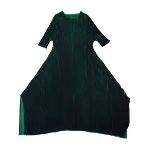 Accordion style pleated dress