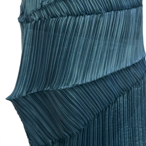 Asymmetrical two-way pleated designer dress