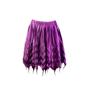 Pleated satin short dress