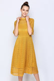 Scrunch Pleated Summer Dress