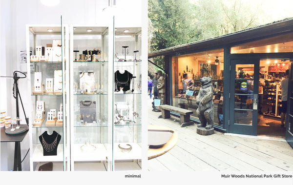 WENWEN designs at minimal Hayes Valley + Muir Woods National Park Gift Store
