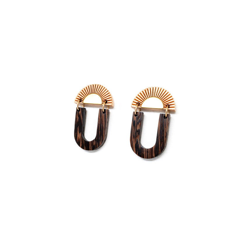 Ellipse Sun Earrings